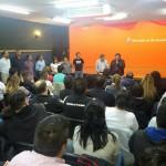 La dirigencia de Ate seccional Rio Grande junto al Intendente de la Ciudad Gustavo Melella , anunciaron a los compañeros contratados de la Municipalidad el Pase a planta permanente.