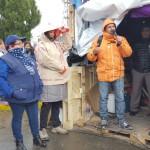 En el día de hoy en la carpa de los trabajadores , montada por los gremios estatales en el marco de la unidad cita en San Martin y Belgrano,