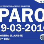 Ate Rio Grande declara Paro y movilización a Ushuaia para el día de mañana 09/03