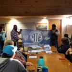 El tema que se trató fue el IPAUSS y se hizo la presentación de la nueva bandera de ATE Rio Grande.