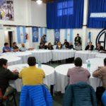 En la sede de la Asociación Trabajadores del Estado Seccional Rio Grande , se dio comienzo a la reunión entre los gremios estatales y el gobierno provincial