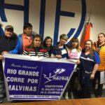 ATE Rio Grande,en el dia de hoy participo de la Inscripcion oficial en la Maraton por Malvinas