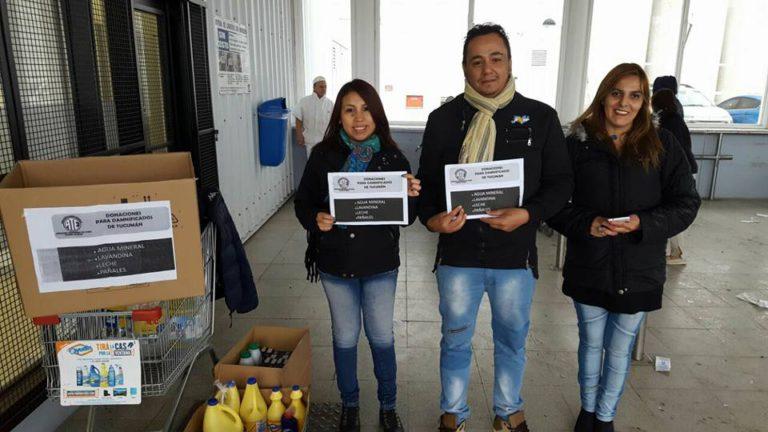 La Asociacion Trabajadores del Estado seccional Rio Grande,en el dia del hoy puso en marcha la colecta Solidaria para las familias hermanas afectadas por el temporal de la provincia de Tucuman, la campaña se llevo a cabo afuera de la Anonima de la rotonda.