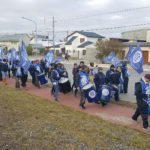 Siguiendo el plan del lucha iniciado por nuestra entidad sindical por pedido del aumento salarial al ejecutivo provincial y municipal,nos manifestamos marchando desde nuestro sindicato hacia la puerta principal del Municipio