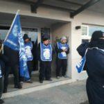 La Asociacion Trabajadores del Estado seccional Rio Grande,en la mañana de hoy,nos manifestamos en el Centro Cultural Yaganes de nuestra ciudad dando inicio a un plan de lucha por pedido de pauta salarial para los trabajadores estatales provinciales.