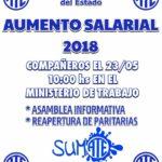 ATE Río Grande,  Convoca a todos los Trabajadores de la Administracion Publica y entes decentralizados a la asamblea informativa por reapertura de Paritarias el dia 23/05