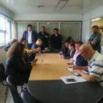 ATE Río Grande, en el día de hoy nos hicimos presentes ante la convocatoria de la cartera laboral en el Ministerio de Trabajo de nuestra ciudad sito en calle Obligado N° 750.